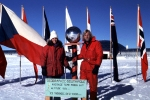 Jerry and Elena Marty at the South Pole